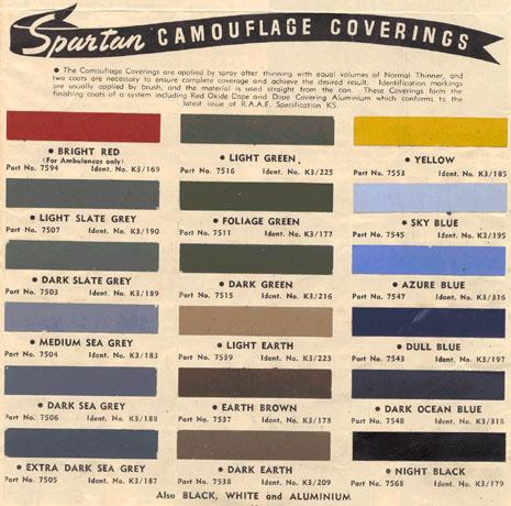Spartan Paints Colour Chart