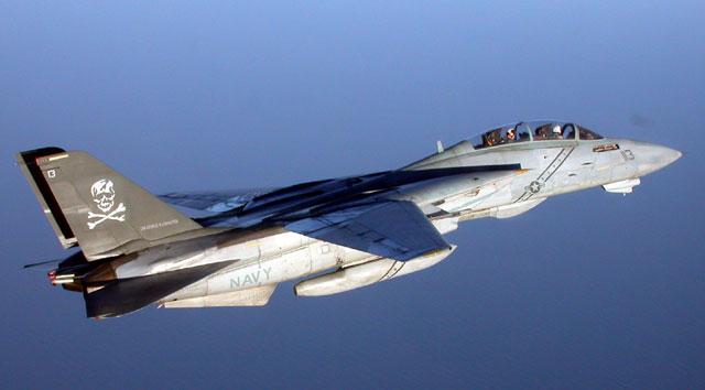 """F-14B Tomcat 113 Over Water (CAPT Dana """"Smudge"""" Potts)"""
